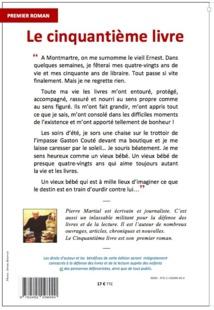 """""""Le Cinquantième Livre"""", de Pierre Martial. L'attachante et lumineuse surprise de """"l'autre rentrée littéraire""""."""