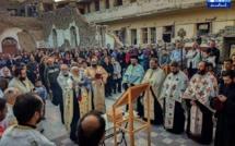 Dans le petit village syrien de Sadad, on a dégagé les gravats pour célèbrer Noël dans l'église bombardée